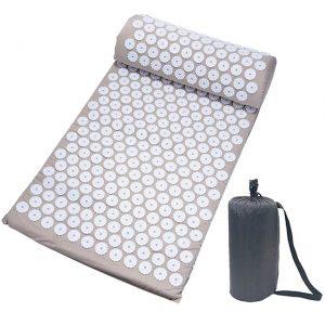 Acupressure Mat and Pillow Set Yoga - Grey