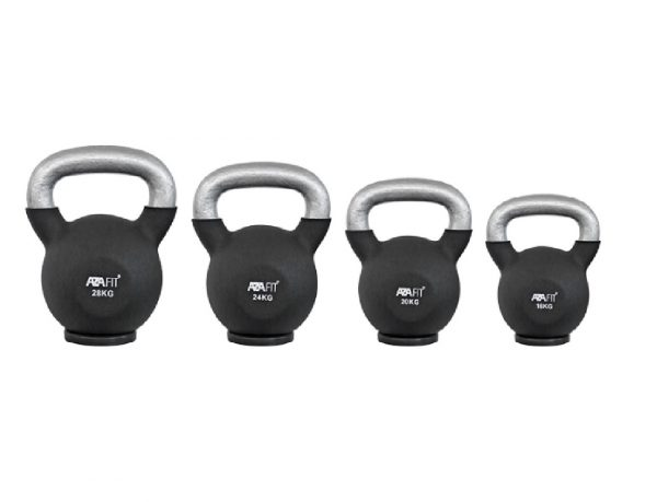 Kettlebells with rubber