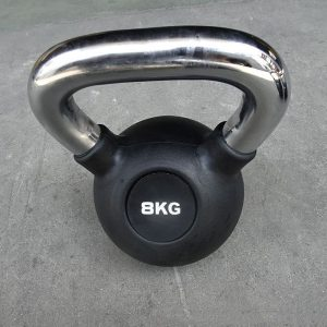 Commercial black rubber coated kettlebell €3.50 per kg SALE!!!