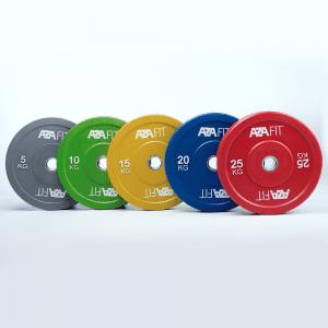 Coloured bumper plates only €5 per kg !!!