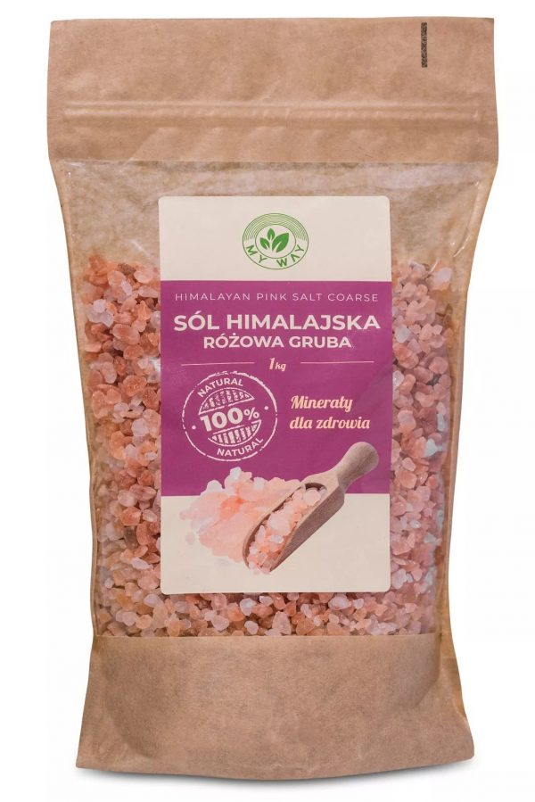 Himalayan pink salt 1kg coarse